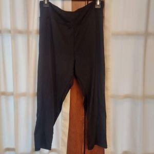 Cascade Blue Black Athletic Leggings Size XL